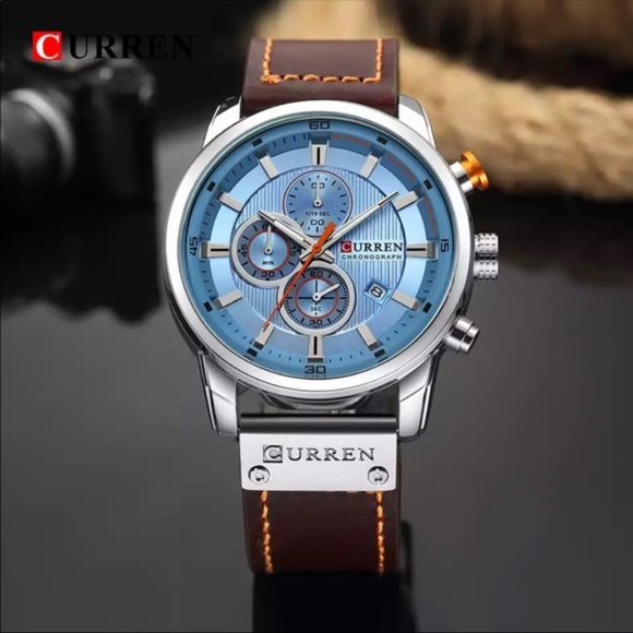 Other - Stainless Steel Men's Leather Analog Watch